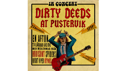 Bild för Dirty Deeds at Pustervik - AC/DC Tribute, 2019-12-27, Pustervik