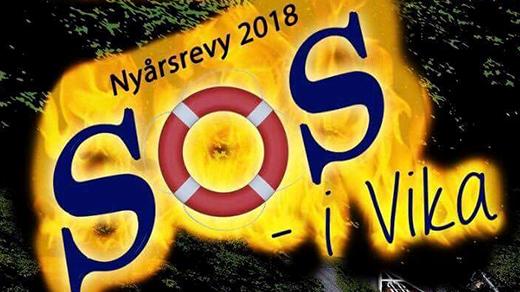 Bild för Nyårsrevyn SOS i Vika, 2018-01-27, Valdemarsviks revyn Folkets Hus Valdemarsvik