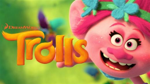 Bild för Trolls (Sal.1 7år Kl.15:30 1h32m), 2016-11-12, Saga Salong 1