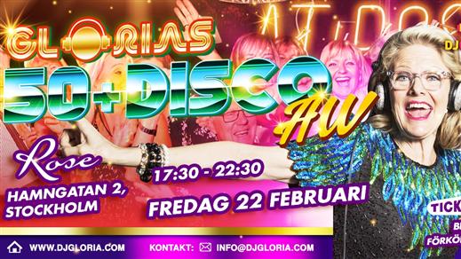 Bild för Glorias 50+ DISCO AW Stockholm 22 feb 2019, 2019-02-22, Rose Club