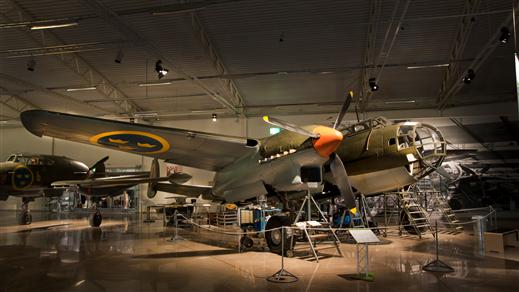 Bild för Restaureringen av Saab B 18B, 2019-04-27, Flygvapenmuseum
