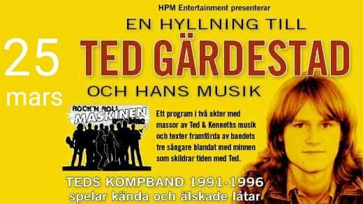 Bild för En hyllning till Ted Gärdestad, 2017-03-25, Söderhamns Teater