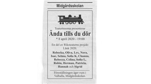 Bild för Ända tills du dör, 2020-04-08, Valhalla, Midgårdsskolan