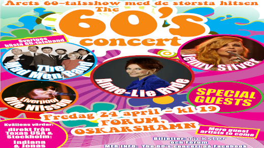 Bild för The 60s concert med bl.a Anne-Lie Ryde OSKARSHAMN, 2021-05-01, Stadsteatern Oskarshamn