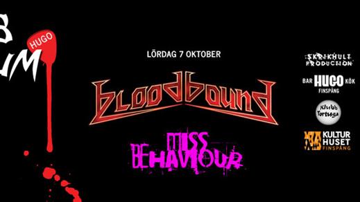 Bild för Bloodbound + Miss Behaviour - Klubb Plektrum 7/10, 2017-10-07, Hugo Finspång