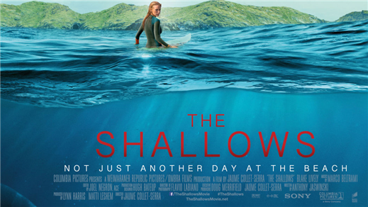 Bild för The Shallows (Sal2 fr15 Kl.21:00 1h26min), 2016-09-23, Saga Salong 2