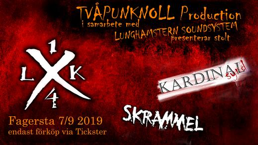 Bild för LASTKAJ 14 + Kardinal Synd + Skrammel, 2019-09-07, Eskilns Camping