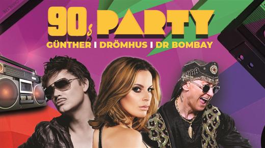 Bild för 90-talsfest med Gunther, Drömhus och Dr Bombay, 2020-03-21, Halmstad Live