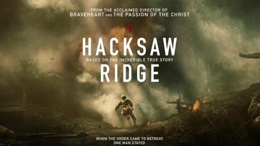 Bild för Hacksaw Ridge (Sal.2 15år Kl.20:30 2h 19m), 2016-11-18, Saga Salong 2
