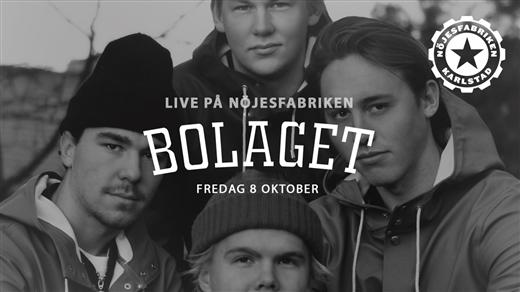 Bild för Bolaget - LIVE, 2021-10-08, Nöjesfabriken