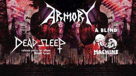 Bild för Armory / Dead Sleep / A Blind Machine // Live at P, 2020-11-14, Plan B - Malmö