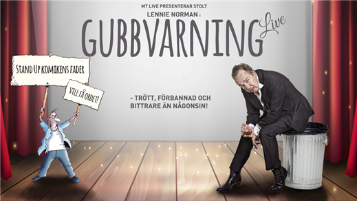 Bild för Lennie Norman - Gubbvarning Live!, 2019-03-22, Sagateatern Borås