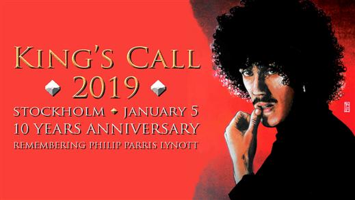 Bild för King´s Call 2019 - Phil Lynott hyllning, 2019-01-05, Kraken Globen, Rökerigatan 1D