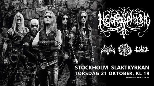 Bild för Necrophobic / Avslut / Vanhelga / Trident, 2021-10-21, Slaktkyrkan