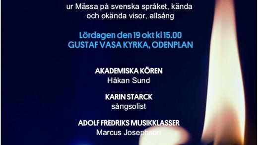 Bild för En musikalisk presentation av Olle Adolphson, 2019-10-19, Gustaf Vasa kyrka, Odenplan