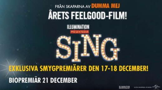 Bild för Sing 2D  (Sv. tal B-t 108min), 2016-12-26, Metropolbiografen