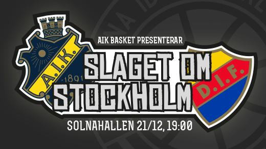 Bild för AIK - Djurgården Basket, 2017-12-21, Solnahallen