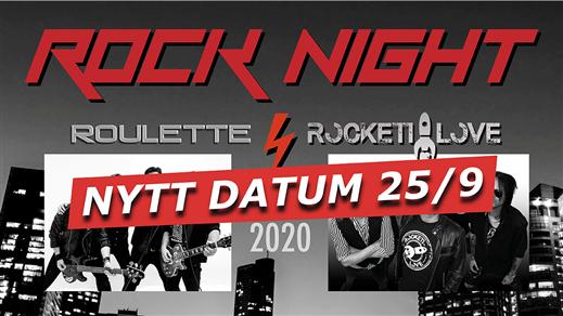 Bild för Rocknight med Roulette & Rockett Love, 2020-09-25, Quality Hotel Sundsvall