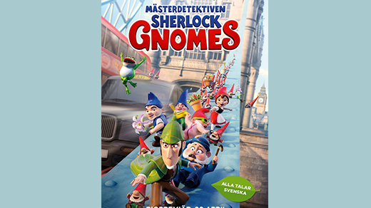 Bild för Mästerdetektiven Sherlock Gnomes  Premiär, 2018-04-20, Biosalongen Folkets Hus