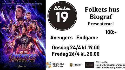 Bild för Avengers: Endgame, 2019-04-24, Biosalongen Folkets Hus