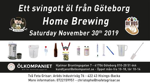 Bild för Home Brewing Course 30 November, 2019-11-30, Två Feta Grisar Bryggeri
