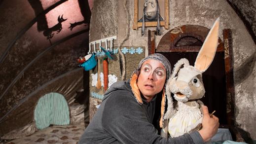Bild för Barnsöndag på Tonsalen - Lilla syster kanin, 2019-02-17, Teater Sláva, Tonsalen