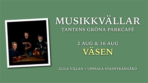 Bild för Väsen 16 augusti 18.00, 2020-08-16, Tantens Gröna Parkcafé – Gula Villan –