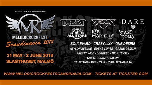 Bild för Melodic Rock Fest Scandinavia 2018, 2018-05-31, Slagthuset