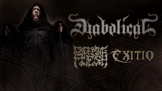 Bild för Belsepub: DIABOLICAL, Creeping Flesh & Exitio, 2020-03-13, Sticky Fingers klubbscen