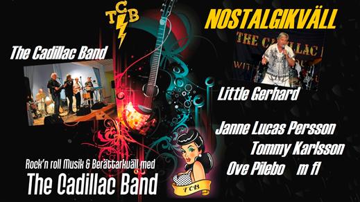 Bild för Nostalgikväll - Rock'n'roll med The Cadillac Band, 2019-07-10, Nätra Hembygdsgård