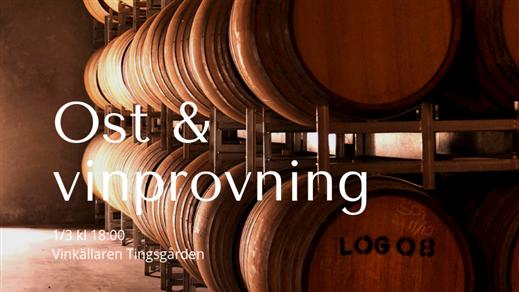Bild för Ost & vinprovning, 2019-03-01, Tingsgården Restaurang & Vinkällare