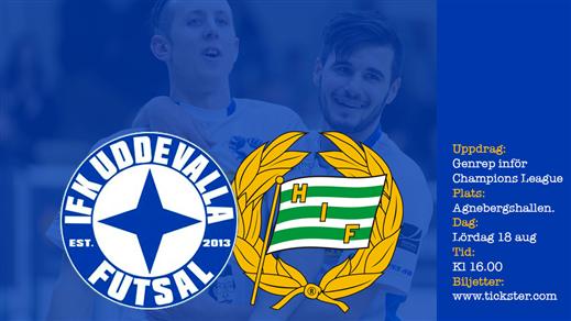 Bild för Träningsmatch: IFK Uddevalla Futsal-Hammarby, 2018-08-18, Agnebergshallen