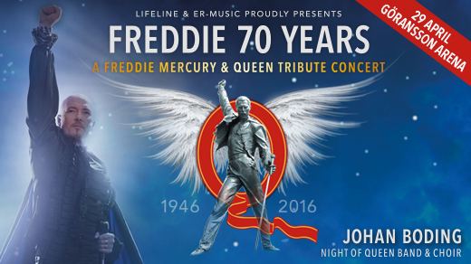 Bild för Night of Queen – Freddie 70 years, 2017-04-29, Göransson Arena / Konsert