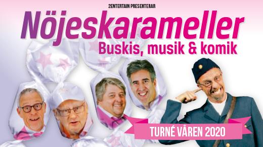 Bild för Nöjeskarameller, 2020-03-01, Medborgarhuset i Eslöv
