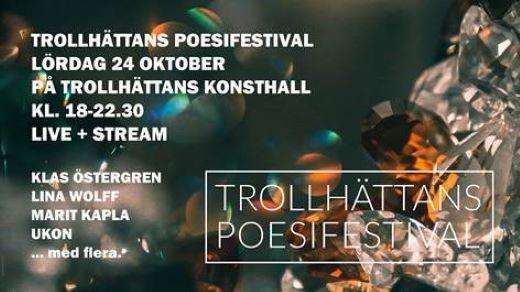 Bild för Trollhättans poesifestival, 2020-10-24, Konsthallen Trollhättan