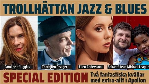 Bild för Trollhättan Jazz & Blues: Special edition 22-23/10, 2021-10-22, Apollon, Folkets Hus Kulturhuset