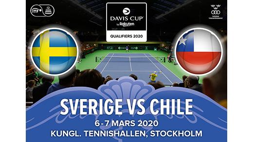 Bild för Davis Cup Sverige-Chile 6 mars, 2020-03-06, Kungl. Tennishallen