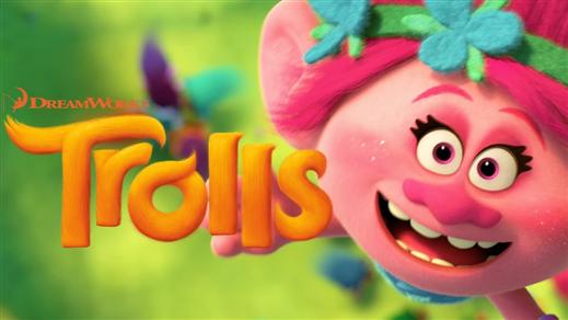 Bild för Trolls (Sal.1 7år Kl.17:00 1h32m), 2016-11-27, Saga Salong 1