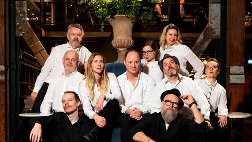 Bild för Västerås improvisationsteater, Schlagerfestival!, 2020-03-20, The Steam Hotel