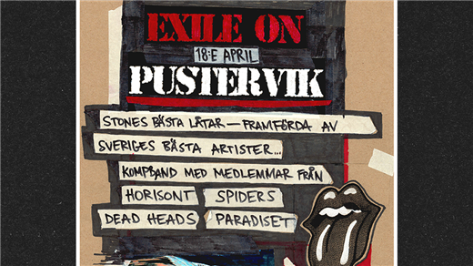 Bild för Exile On Pustervik - Rolling Stones Tribute, 2019-04-18, Pustervik