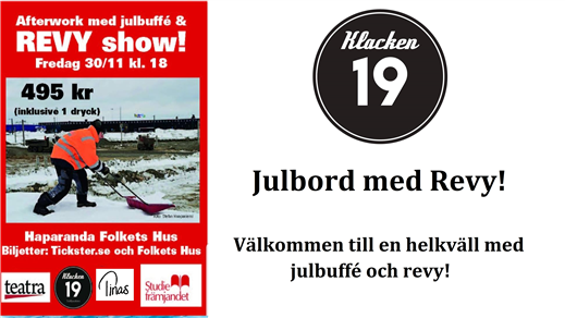 Bild för Julbuffe med Revy!, 2018-11-30, Danssalongen folkets Hus