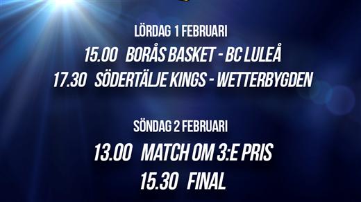 Bild för Svenska cupen - Herrar, 2020-02-01, Täljehallen