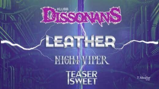 Bild för Klubb Dissonans: Leather, Night Viper, Teaser...., 2019-09-06, Sofiehof Underjord