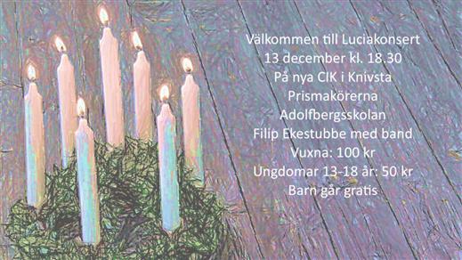 Bild för Luciakonsert, 2019-12-13, Centrum för Idrott och Kultur i Knivsta