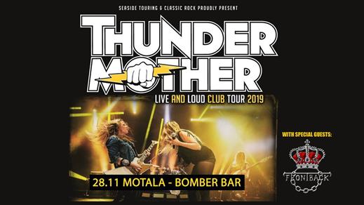 Bild för Thundermother + Frontback, 2019-11-28, Bomber Bar Motala