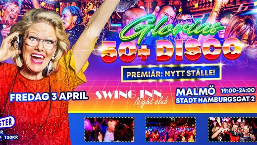 Bild för Glorias 50+ DISCO på Swing Inn MALMÖ 26 mars 2021, 2021-03-26, Swing Inn
