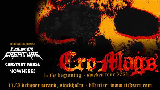 Bild för CRO-MAGS / Lowest Creature + support, 2022-08-11, Debaser Strand