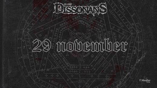 Bild för Sorcery, The Embodied, Ravened @ Klubb Dissonans, 2019-11-29, Sofiehof Underjord