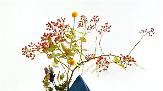 Bild för Ikebana online: Momiji - höst i Japan, 2021-10-16, Östasiastiska museet