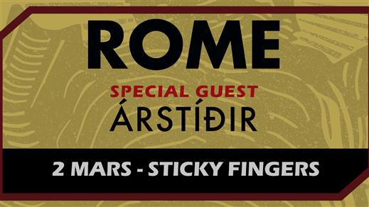 Bild för Rome, Árstíðir i Göteborg, 2019-03-02, Sticky Fingers